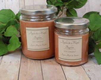 Apples & Maple Bourbon - Soy Candle- Natural Candle