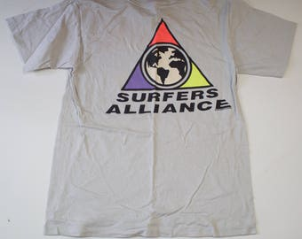 Vintage 1980s Surfers Alliance T Shirt / 80s Surf T Shirt / Cotton