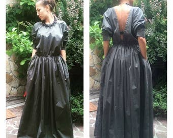 Edwardian Dress, Victorian Dress, Renaissance Dress, Puff Sleeve Dress, Bridesmaid Dress, Formal Gown Dress, Maxi Dress, Open Back Dress