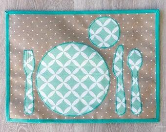 napperon imperméable inspiré par Montessori pour mettre la table soi-même