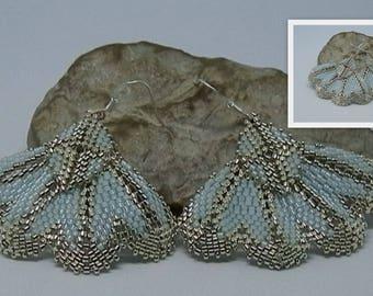 Weaving sky earrings and silver