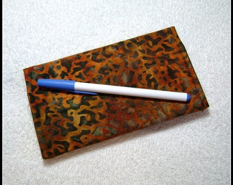 Checkbook Cover -- Female Gift Item - Quilted Checkbook - Contemporary Fabric - Cotton Fabric - CC11