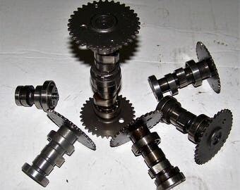 Set of metal engine camshafts for industrial art