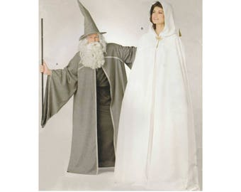 Cosplay Costume, Cape and Hat or Hooded Cape Sewing Pattern for Men, Women, Teens Size XS-S-M-L-XL Simplicity 0820 / 2094