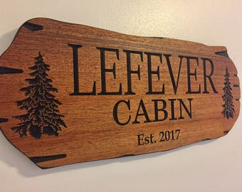 Wooden carved Sign, Outdoor Wood Sign, Outdoor Sign, Pine Trees, Camp Sign, Weekend Camping, Lakehouse Sign, Cottage Sign, Father's Day
