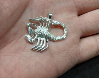 Scorpion Pendant Sterling Silver