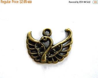 HALF PRICE 6 Bronze Swan Charms