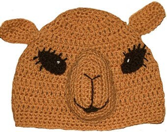 Hand Crocheted Camel Hat HH0173