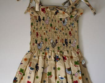 Shirred Bodice Ruffle Dress Aged 2-3 years