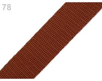 78 - Strap 30 mm red brown polypropylene