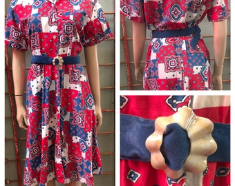 Fun Andrea Gayle red , white, and blue dress / size 6