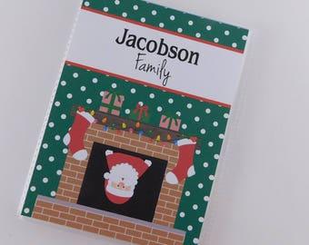 Christmas Photo Album 4x6 or 5x7 Santa Claus in Chimney Holiday Gift Picture Brag Book Family 812