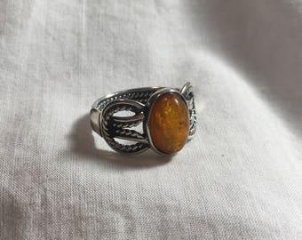 Twine Amber Ring