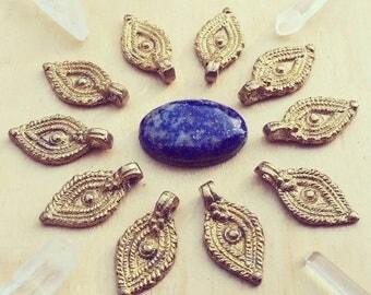 Charm Brass 5/10/20 PC Tribal brass charm 25 mm art supplies metal beads bohemian metal Antique Brass artofgoddess