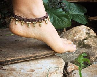 MACRAME Anklet, Ankle Bracelet, Foot Bracelet, Beaded Anklet, Beach Anklet , Beach Jewelry, Anklets for Women, Boho Anklet, Foot Jewelry