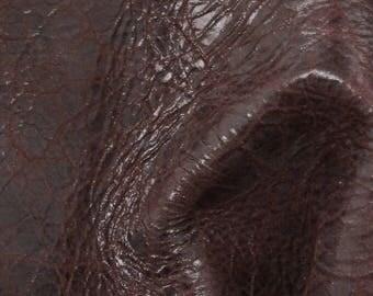 "Sweet Black Cherry Leather New Zealand Deer Hide 4"" x 6"" Pre-Cut 2 ounces TA-56411 (Sec. 3,Shelf 5,A,Box 2)"