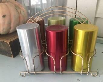 Vintage Aluminum TUMBLER Set