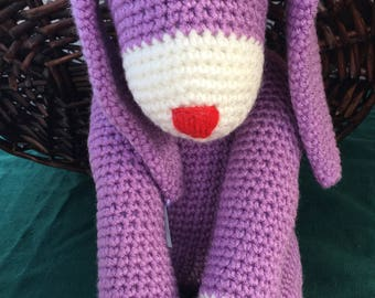 Light Purple Stuffed Crochet Bunny