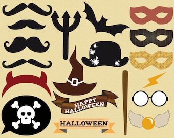 Printable Harry Potter photobooth props - instant download photo booth props garland & sign - party photo booth party printables accessory