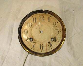Clock Face, Antique Art Deco Era, With Stylized Arabic Numerals