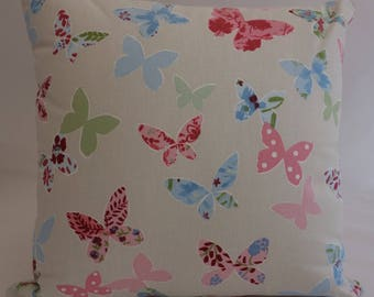 Pillow - Butterflies design feature cushion, complete with cushion pad, zip fastening