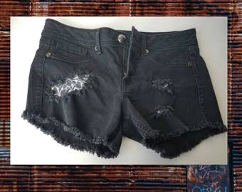 Faded N Distressed Cutoff Shorts size 11