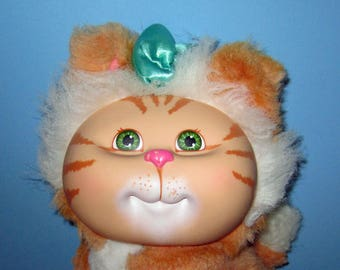 Cabbage Patch Kids, Adopt and Luv, Orange Tiger Striped, Pet Cat Vintage