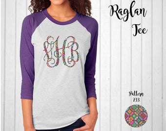 Monogram Shirt, Monogram Raglan Tee  // Monogram Shirt in Pattern 733