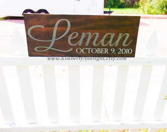 Last name sign, Family name sign, Custom name sign, Established sign, Personalized sign, Name sign, Wooden name sign, Wood sign, Custom sign