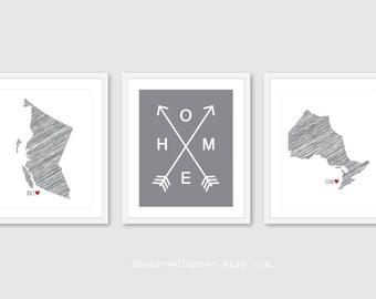 Custom State Prints - Home Print - State Love Print - State Print - Province Print - The Love Cluster