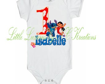 Free Shipping ~ Lilo and Stitch Onesie or Tshirt - Any age
