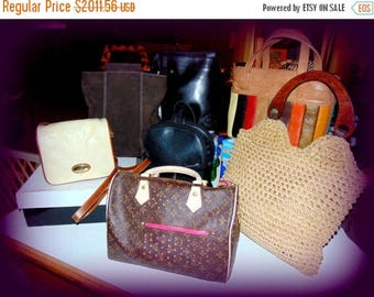 Summer Sale 65% off Vintage Designer Handbag Lot from 1950's  to 1990's Louis Vuitton, Longchamp France, India, Giani Bernini, Capezio and m