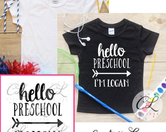 Back to School Boys Shirt / Kindergarten Grade Shirt 1st Day of School Shirt Preschool Tee Pre-K Class Outfit T-Shirt First Personalized 235