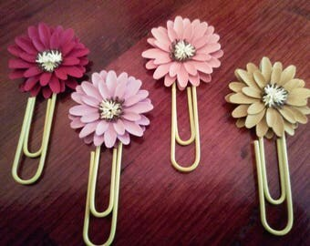 Daisy Planner Clip, Journaling Clip, Page Marker, Bookmark, Planner Accessory