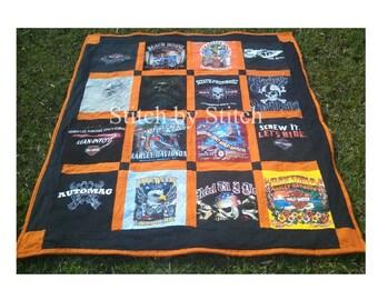 Harley Davidson (I SUPPLY THE SHIRTS) Theme Memory Quilts