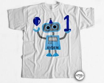 Robot First Birthday Shirt Robot Birthday TShirt Robot Birthday Shirts Robot 1st Birthday Shirt