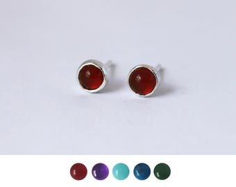 Small Stone Earring Studs