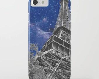 Paris Nights Phone Case, protective iphone 8, 8 plus  7,  7 plus,  Samsung - Eiffel Tower - France Blue, Galaxy - protective, gadgets, tech
