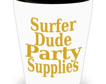 Surfer Dude Party Supplies Shot Glass