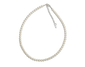 Girls Sterling Silver Necklace with Freshwater Pearls  Comes in Gift Box (Necklace for Girls) (BN-Zoey)