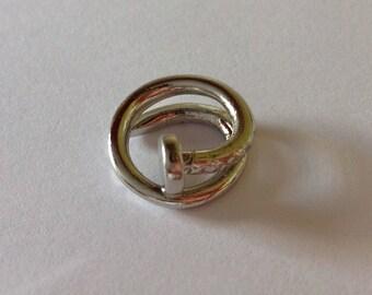 Nail Beard Bead Dread Bead Silver Tone 10mm Hole Spiral Beard Art Baubles