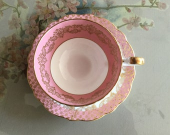 Aynsley Pink duo Cabinet cup and saucer