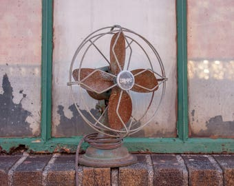 Cool Spot Desk Fan Vintage Mid-Century Industrial Decor
