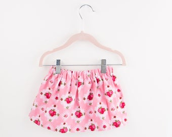 Toddler Girl Skirt - Baby Girl Skirt - Pink Rose Skirt - Toddler Girl Clothes - Fall Girl Clothes - Baby Girl Clothes - Winter Baby Outfit