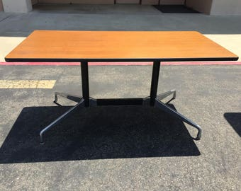 Herman Miller Eames  Wood Veneer Table