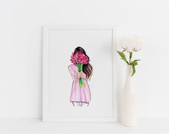 Odette (Fashion Illustration- Fashion Print- Fashion Art - Art - Home Decor - Wall Art)