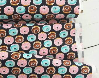 Sevenberry Mini Prints -Doughnuts (Black Background) - Robert Kaufman