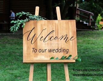 Welcome Wedding Sign Decal