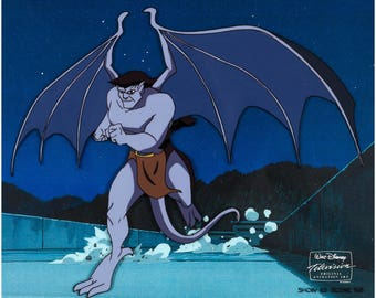 Gargoyles Goliath original production animation cel framed with Disney COA 1996 2*