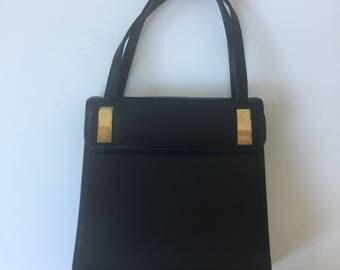 Vintage Black Leather Purse by Block 1960s